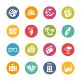 Icônes de vacances d'été - série fraîche de couleurs Photographie stock libre de droits
