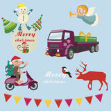 Icônes de vacances de Noël et de nouvelle année Photos stock