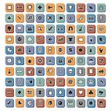 Icônes de vecteur illustration stock