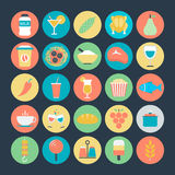 Icônes 7 de vecteur alimentaires illustration libre de droits