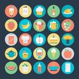 Icônes 8 de vecteur alimentaires illustration stock