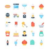 Icônes 3 de vecteur alimentaires Image libre de droits