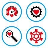 Icônes de vecteur arrondies par outils d'amour Photographie stock