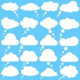 Ic?nes de vecteur de bulles de la parole de nuage ramassage Les bulles de la parole de nuage dirigent l'ensemble d'illustration illustration stock