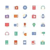 Icônes 1 de vecteur colorées parélectronique Photos stock