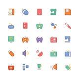 Icônes 2 de vecteur colorées parélectronique Images libres de droits