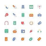 Icônes 6 de vecteur colorées parélectronique Photo libre de droits