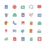 Icônes 7 de vecteur colorées parélectronique Photos libres de droits