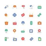 Icônes 8 de vecteur colorées parélectronique Photo stock