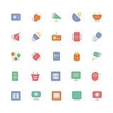Icônes 10 de vecteur colorées parélectronique Photo libre de droits