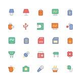 Icônes 9 de vecteur colorées parélectronique Images stock