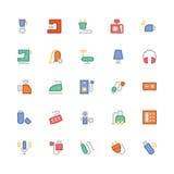 Icônes 4 de vecteur colorées parélectronique Photographie stock libre de droits