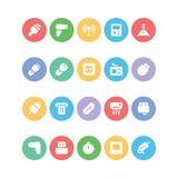 Icônes 11 de vecteur colorées parélectronique Images libres de droits