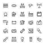 Icônes 5 de vecteur colorées parélectronique Images libres de droits