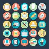 Icônes 1 de vecteur colorées par éducation illustration stock