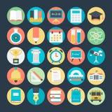 Icônes 1 de vecteur colorées par éducation illustration libre de droits