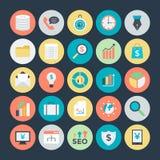 Icônes 2 de vecteur colorées par affaires Photos libres de droits
