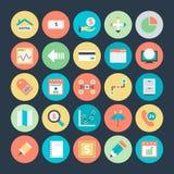 Icônes 3 de vecteur colorées par affaires Images stock