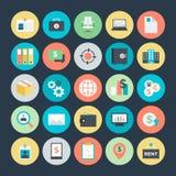 Icônes 4 de vecteur colorées par affaires image stock