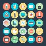 Icônes 5 de vecteur colorées par affaires Image libre de droits