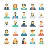 Icônes 2 de vecteur colorées par avatars de personnes illustration de vecteur
