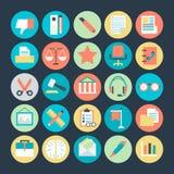 Icônes 4 de vecteur colorées par bureau illustration de vecteur
