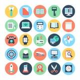 Icônes 3 de vecteur colorées par bureau Photos libres de droits