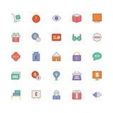 Icônes 2 de vecteur colorées par commerce Photographie stock