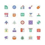 Icônes 4 de vecteur colorées par commerce Image libre de droits