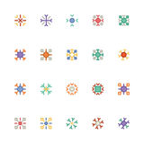Icônes 5 de vecteur colorées par flocons de neige Photographie stock