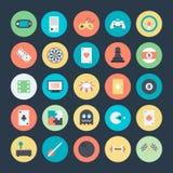 Icônes 1 de vecteur colorées par jeu illustration libre de droits