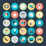Icônes 4 de vecteur colorées par jeu illustration stock