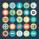 Icônes 3 de vecteur colorées par jeu illustration stock