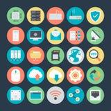 Icônes 1 de vecteur colorées par mise en réseau illustration libre de droits