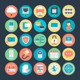 Icônes 3 de vecteur colorées par mise en réseau illustration stock