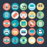 Icônes 2 de vecteur colorées par multimédia illustration de vecteur