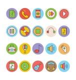 Icônes 3 de vecteur colorées par musique Photographie stock