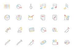 Icônes 2 de vecteur colorées par musique d'ensemble image libre de droits