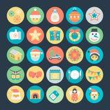 Icônes 4 de vecteur colorées par Noël Photos libres de droits