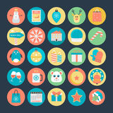 Icônes 2 de vecteur colorées par Noël photo libre de droits