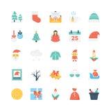 Icônes 2 de vecteur colorées par Noël illustration stock