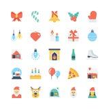 Icônes 1 de vecteur colorées par Noël illustration libre de droits