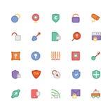 Icônes 5 de vecteur colorées par sécurité Image libre de droits