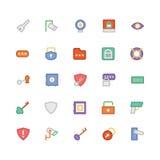Icônes 6 de vecteur colorées par sécurité Photographie stock libre de droits