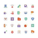 Icônes 4 de vecteur colorées par sécurité Photos libres de droits