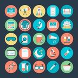Icônes 3 de vecteur colorées par Science illustration libre de droits