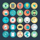 Icônes 1 de vecteur colorées par Science illustration libre de droits