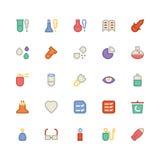 Icônes 11 de vecteur colorées par Science Photos stock