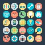 Icônes 3 de vecteur colorées par sports illustration libre de droits