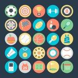 Icônes 1 de vecteur colorées par sports illustration de vecteur